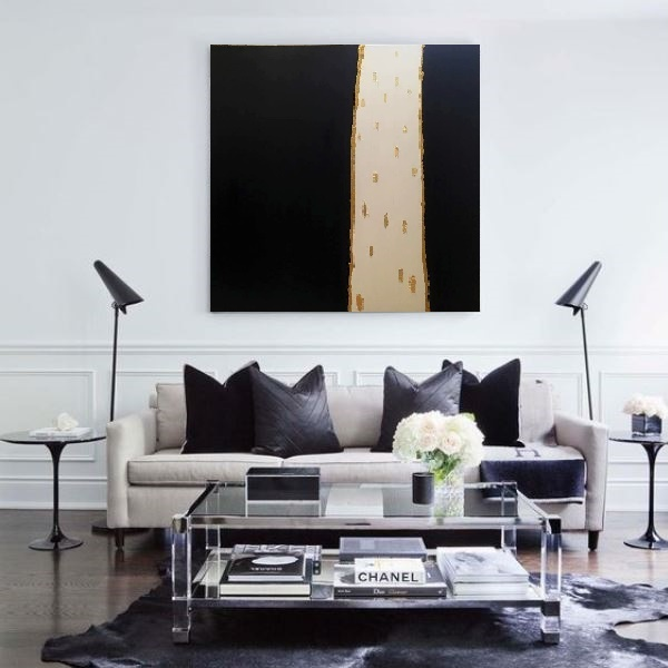 large modern art, acrylic painting, abstract art, modern gallery