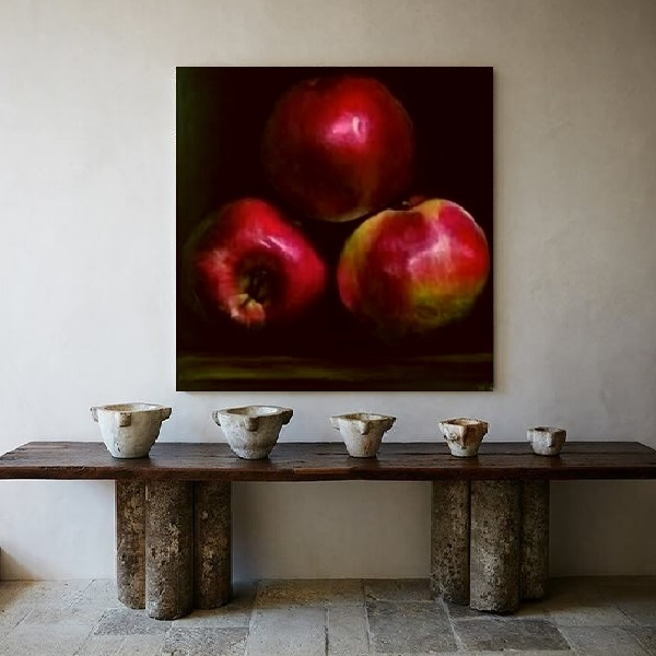 contemporary painting, modern gallery, large picture