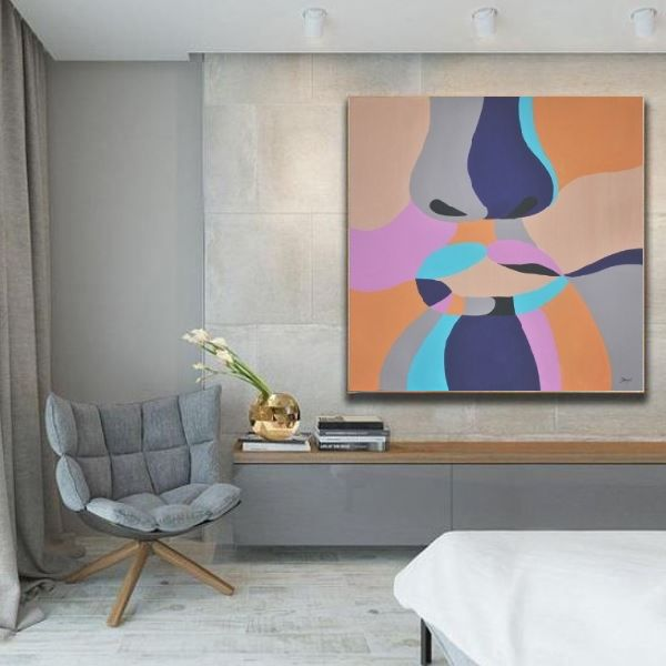 figurative painting, abstract canvas art, contemporary painter