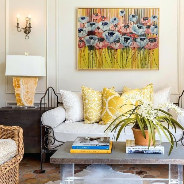 gallery, oversize painting, home design, artwork