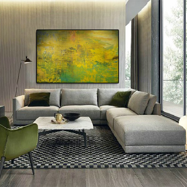 home design, art gallery, large paintings