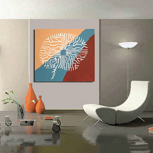abstract paintings, large canvas art, oversize painting