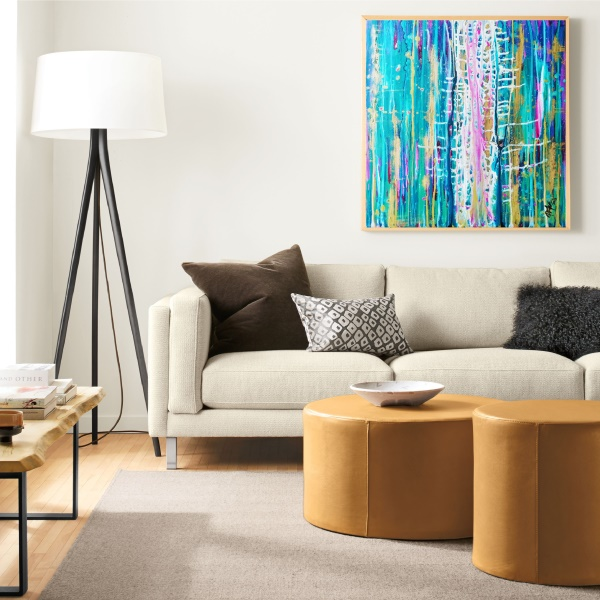 abstract painting, large modern art, charts, gallery