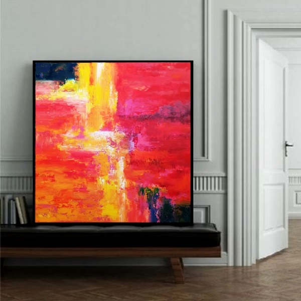 abstract paintings, acrylic paintings, contemporary painting, large painting