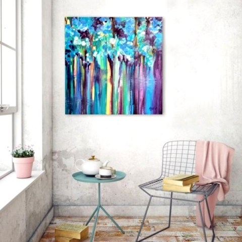 contemporary painter, large painting, acrylic painting
