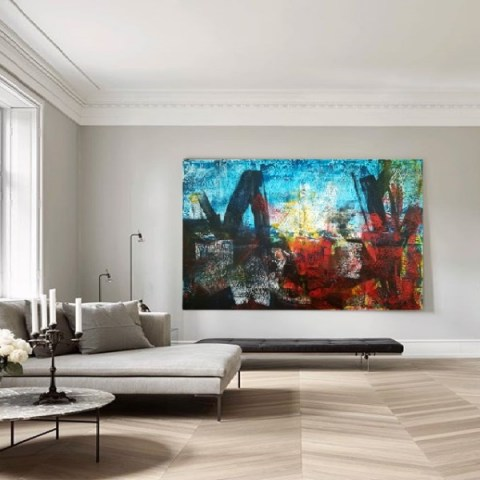 extra large painting, oversize painzing, abstract painting