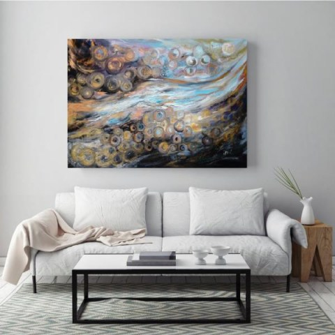 large painting, contemporary art, art gallery