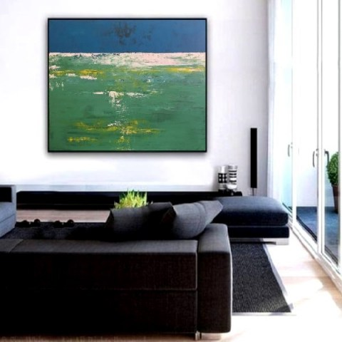 modern landscape, extra large wall art, oversize painting, landscape