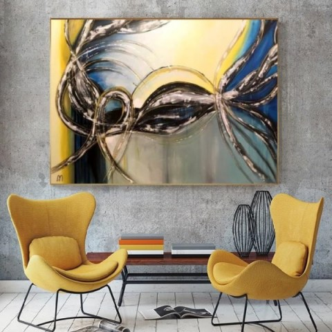 oversize painting, home design, artwork, gallery