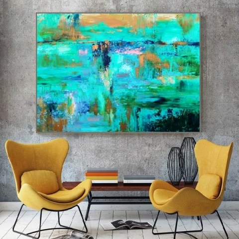 abstract painting, modern painting, large painting