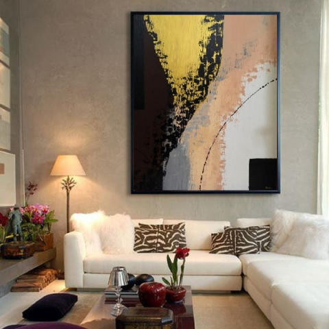 vertical painting, landscape painting, paintings webshop